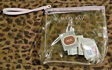 Mary Kay Clear Plastic Zipper Makeup Bag Case 10 Signature Sample Cards NEW!