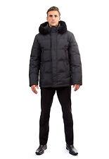 Mens Down Coat Jacket Parka w/ Real Fur Fox Trim sz XL  EU 54  $595 NWT Пуховик