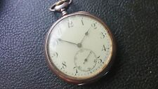 Silver Zenith Pocket Watch Good Condition Running