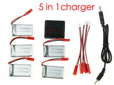 5X Extra 3.7V 750mAh Batteries +5 in1 Charger For RC Quadcopter Drone MJX X400