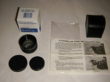 PHILIPS ELECTRONICS 1.5X TELEPHOTO CONVERTER VHS VIDEO LENS V80092 MAGNAVOX