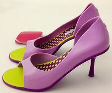 Melissa Grendene Spice Purple & Lilac Brazilian Shoes Size 8