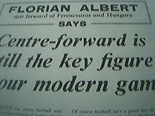 football article - florian albert ferencvaros hungary