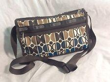 Le SportSac Brown Blue And Beige Crossbody Handbag