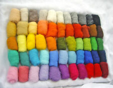 55 color's set 165 gr / 5.8 oz 100% natural New Zealand sheep wool for felting