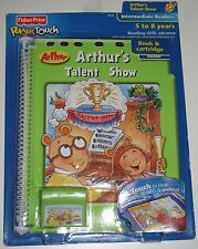 Fisher Price Power Touch Arthur's Talent Show Reading Book & Cartridge NEW