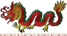 Chinese dragon kung fu tattoo applique iron-on patch LARGE 5 X 10 inches S-1277