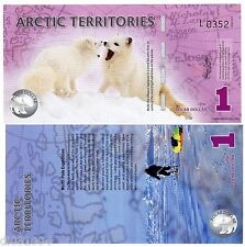 Arctic TERRITOIRES Billet 1 POLAR 2012 POLYMER OURSONS UNC NEUF