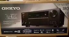 Onkyo TX-NR757 7.2-Channel Network A/V Receiver, 4K UHD, HDR, 8 HDMI, THX, New