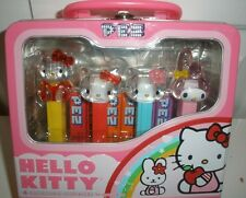 New Hello Kitty Pez Dispenser Collectable Mini Tin Lunch Box Easter Holiday Set