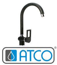 Hohe Hochdruck Spültisch Granit schwarz Wasserhahn Mischer Küchenarmatur A110
