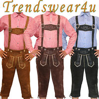 Authentic German Bavarian Oktoberfest Trachten Kniebund Lederhosen / Bundhosen