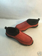 Teva Red Suede Loafers Slip On Shoes Moc Size 37 6 M