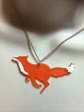 LEICESTER CITY FOOTBALL CLUB LASER CUT ACRYLIC 'RUNNING FOX' NECKLACE