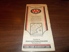 1932 AAA New England Vintage Road Map