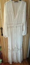 Zara TRF victoriana style summer overcoat dress shirt sheer rare size small new