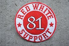 SUPPORT 81 Red White MC Angels 666 Hells vest patch Outlaw Biker 1% er NEW