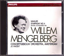 Willem MENGELBERG: MAHLER Symphony No.4 Jo VINCENT Live CD Made in Japan PHILIPS