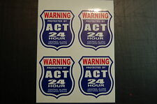4 BURGLAR ALARM 24 hour SECURITY SURVEILLANCE DECAL STICKER ADT 'L decals avail