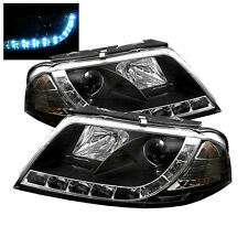 Volkswagen 01-05 Passat Black DRL LED Projector Headlights Lamp Set GLX GLS W8