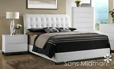 NEW! Averi White Modern Bedroom Furniture 3 piece Queen Size Platform Bed Set