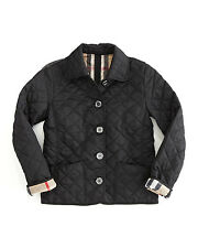 Burberry Children Mini Westbury BLACK Quilted Nova Check Jacket Coat Girl 6 YR