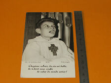 CHROMO 1970-80 CATHOLICISME IMAGES PIEUSES HOLY CARD ENFANT DE COEUR