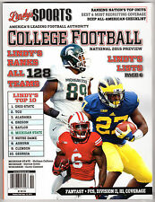 LINDY'S SPORTS 2015 COLLEGE FOOTBALL PREVIEW MAGAZINE COREY CLEMENT BIG 10