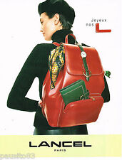 PUBLICITE ADVERTISING 065  1997  LANCEL boutique cadeaux sacs montre foulard