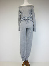 Boohoo Maisie Bardot Lounge Top and Trouser Set - US 4 - Grey - NWT