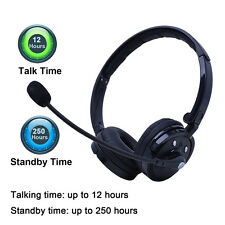 Over Head Noise Cancelling Wireless Bluetooth Stereo Boom Mic Headset Headp