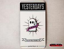 "Boo Ghost 1"" Hard Enamel Black Nickel Plated Lapel Pin by Yesterdays.Co"
