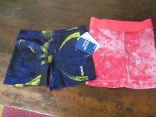 NWT Rebok Old Navy Play Dry Shorts girls athletic compression spandex XS 6/8