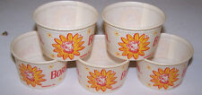 5 Vintage Small BORDEN'S  Dairy Containers ELSIE the Cow