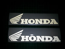 2 x Honda CBR 125R 600R 1000 White Reflective motorcycle sticker decal motorbike