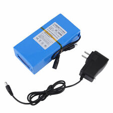 Blue 20000mAh Lithium-ion Super Rechargeable Battery +AC Power Charger US PlugAR