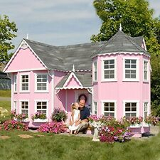 Outdoor Wooden Playhouse Girls Luxury Wood Kids Playhouses Backyard House Play