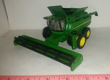 1/64 ERTL custom John deere S690 combine with triples tire w/ bean head farm toy