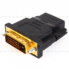 New Hot Gold Plated DVI 24+1 Male to HDMI Female Adapter Converter For HDTV LCD