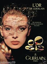 Publicité advertising 1991 Cosmétique maquillage L'Or de Guerlain
