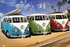 VW LAMINATED POSTER Combi Kombi Van Volkswagon California Campervan 61x91cm NEW
