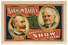 P.T. Barnum & J.A. Bailey, Greatest Show on Earth Circus, 1908 - Modern Postcard