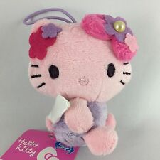 Hello Kitty Plush Doll Flower Fairy Pink Mascot Strap Sanrio Japan Limited New