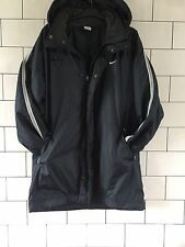 MENS RARE OLD SCHOOL VINTAGE RETRO NAVY BLUE NIKE HOODED JACKET COAT SIZE LARGE