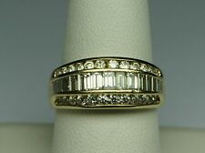 Diamond Band 2 Ct.tw Ballerina 14kt Gold Estate Vintage 1980's Size 9  Beauty!!