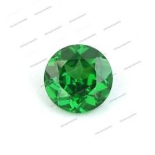 Buy Now Online 0.80 CT 6 MM Lab Created Round Cut Green Sapphire Loose Gemstone