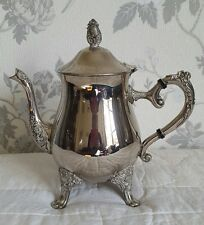 A Vintage Silver Plated Teapot,  Heavy and ornate