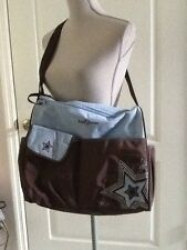 Baby Boom Brown & BlueDiaper Bag EUC