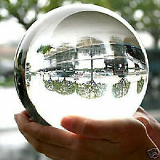 HUGE ASIAN QUARTZ CLEAR CRYSTAL BALL SPHERE 110MM STAND