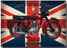 BSA C15 250cc STAR MOTORCYCLE METAL SIGN.(A3) SIZE.VINTAGE BSA MOTORCYCLES.